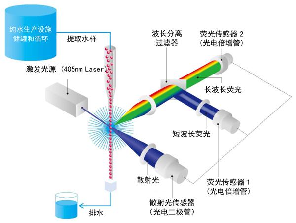 图4. 实时微生物检测仪的光学系统概念图