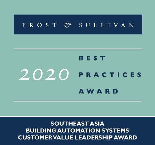 Frost & Sullivan 2020东南亚楼宇自动化系统客户价值领导奖