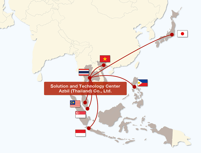 The Solution and Technology Center continues to strengthen the cooperation among the six local subsidiaries in the ASEAN region and Japan, so that information can be shared and opinions can be exchanged efficiently.