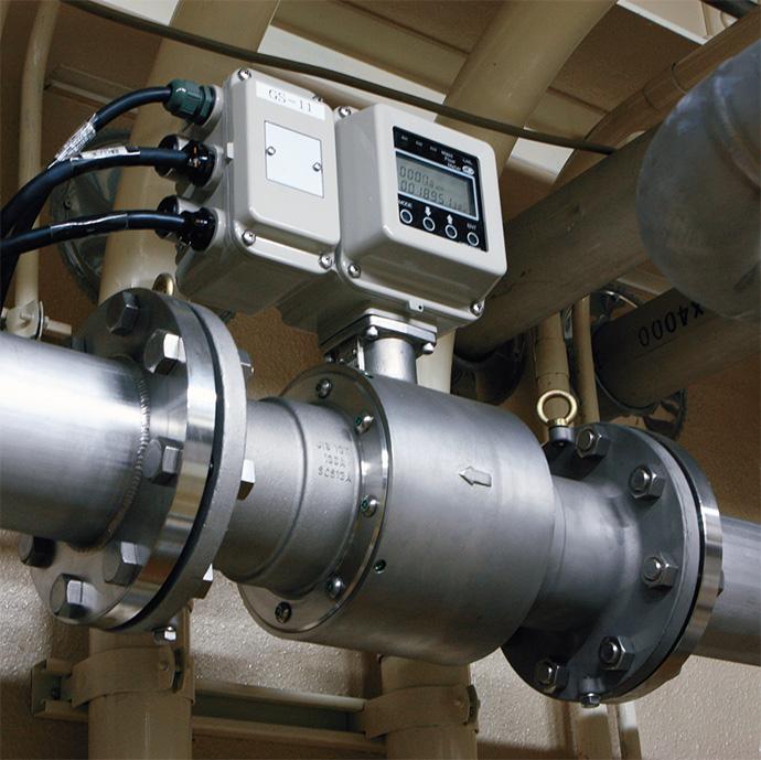 炭酸ガスの流量を計測する大流量マスフローメータ CML