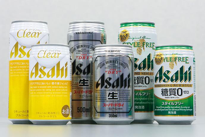 アサヒビール主力商品群