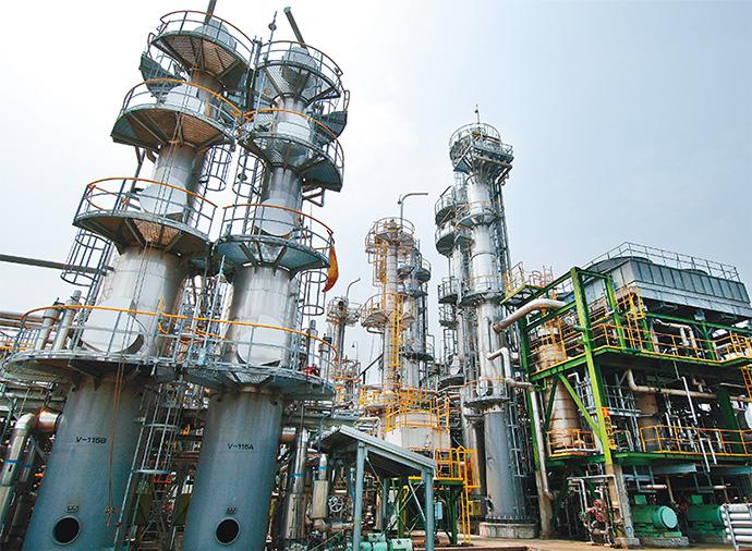 国際石油開発帝石の新潟県越路原プラントガス処理施設