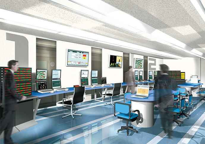 IT機械室を模したCGイメージ図。