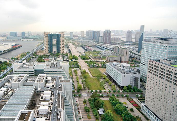 東京臨海熱供給株式会社が、熱を供給する臨海副都心エリア。