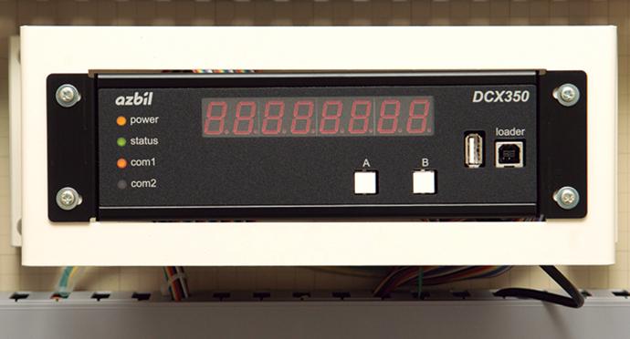 主要供給拠点(南松本供給所)側に置かれた遠隔データコレクタ DCX350。有線もしくは無線で遠隔地からセンターへデータを送ることができる。