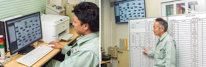 緊急遮断弁SSVは二重化システムとなっており、通常はメイン側が作動しているが、故障時などはサブ側がバックアップを行う。銀色の筒状の機器は負圧ユニット。緊急遮断弁SSVと組み合わせることにより外部電気信号による遮断が可能となる。