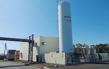 北海道工場内に新設されたLNGサテライト基地。