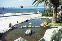 水着で一年中入れる天然温泉「かもめの湯」