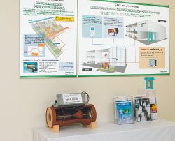 見学コースに設けられたクリティカル環境システム(現:研究施設向け環境制御システム)の概要