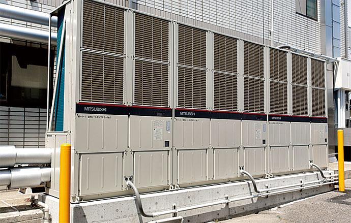 灯油式冷温水発生器から置き換えられた高効率空冷ヒートポンプチラー
