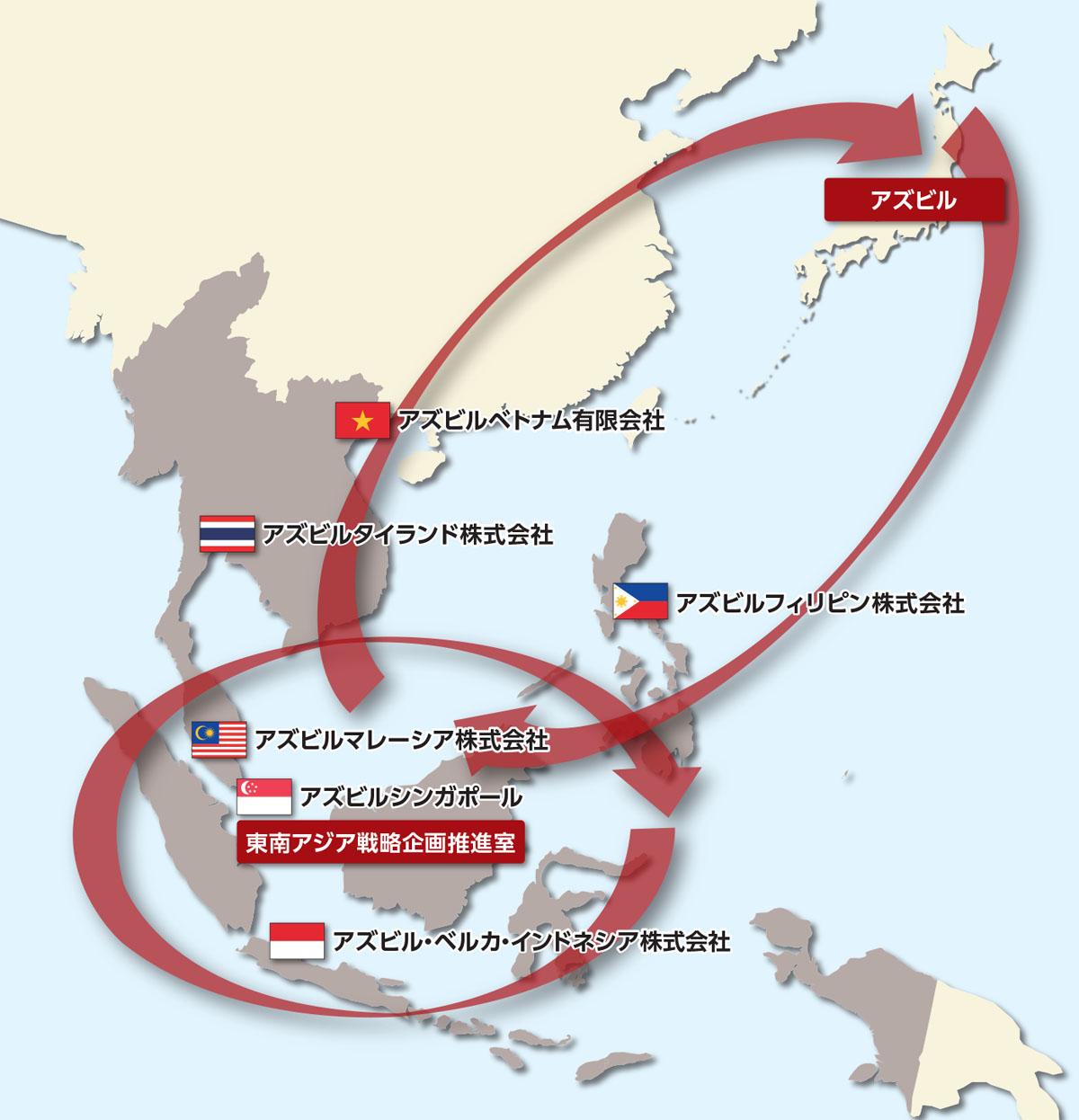 地域内の現地法人同士や日本とのコミュニケーションを活発化することで、効果的な施策の横展開など、連携を強化している。