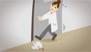 図解:実験室の室内風量バランスが悪く、扉を開けるときに重い。