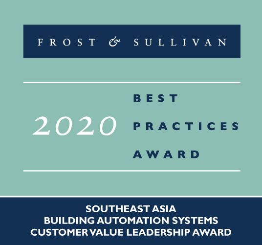 Azbil received award from Frost & Sullivan